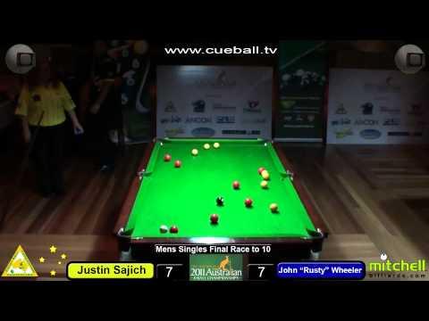 Mens singles final John Rusty Wheeler v Justin Sajich part 2