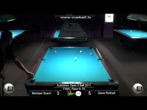 Aus open 9 Ball 2011 Final Michael Scerri v Dave Rothall