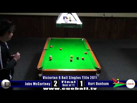 Victorian 8 Ball Singles Title 2011 Final Jake McCartney v Kurt Dunham