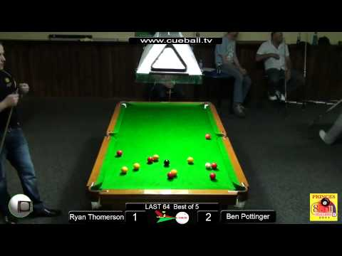 Princes 8 ball challenge 2011 Last 64 Ryan Thomerson v Ben Pottinger