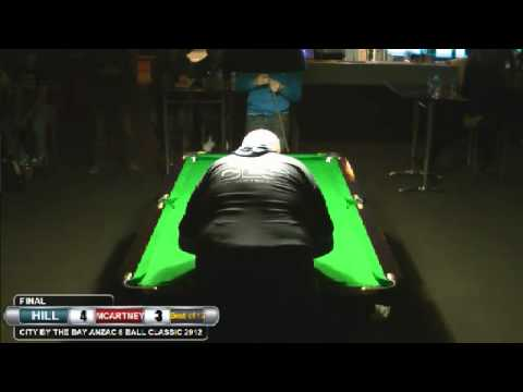 City by the Bay 8 Ball 2012 Final Mick Hill v Jake McCartney