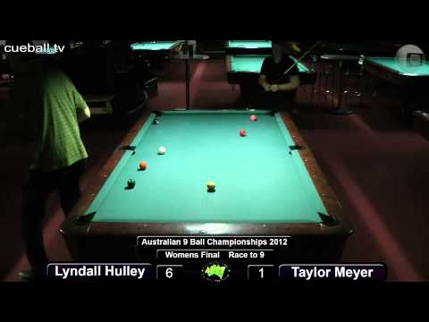 Aus 9 ball 2012 womens final Lyndall Hulley v Taylor Meyer