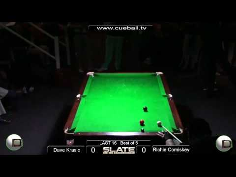 Slate Open 8 Ball 2011 Last 16 Richie Comiskey v Dave Krasic