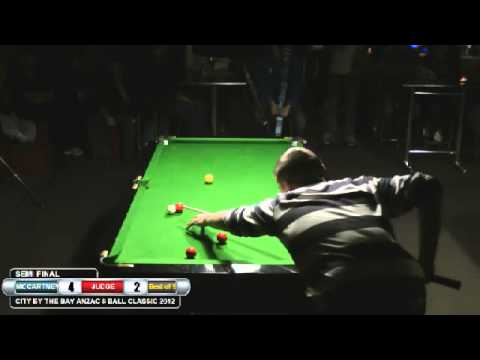 City by the Bay 8 Ball 2012 Semi Jake McCartney v Ben Judge