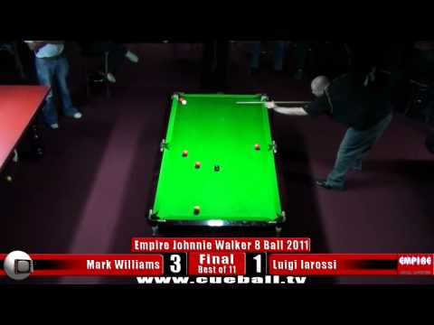 Empire Johnnie Walker 8 Ball 2011 final Mark Williams v Luigi Iarossi