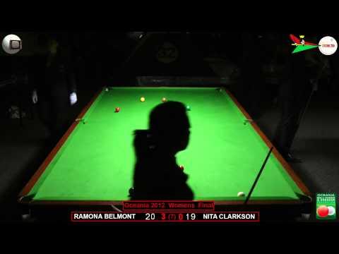 Oceania Snooker 2012 Womens Final Ramona Belmont v Nita Clarkson