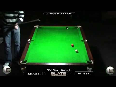 Slate Open 8 Ball 2011Semi Final Ben Judge v Ben Nunan