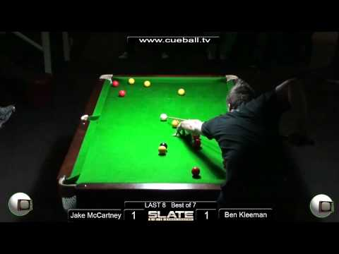 Slate Open 8 Ball 2011 Last 8 Ben Kleeman v Jake Mccartney