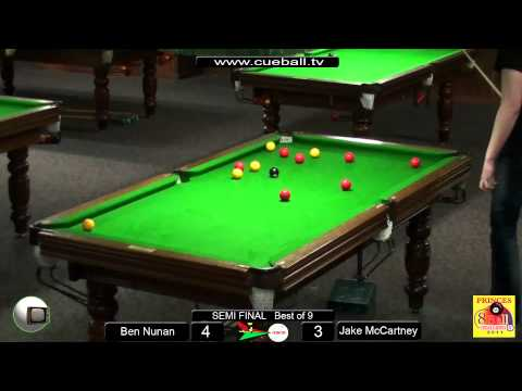 Princes 8 ball challenge 2011 Semi Jake Mccartney v Ben Nunan