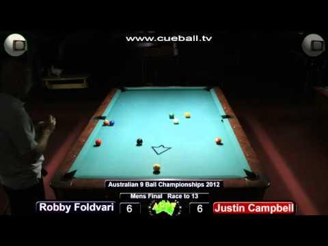 Aus 9 ball 2012 Final Justin Campbell v Robby Foldvari