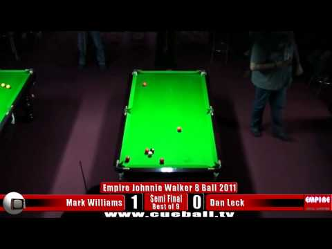 Empire Johnnie Walker 8 Ball 2011 semi Mark Williams v Dan Leck
