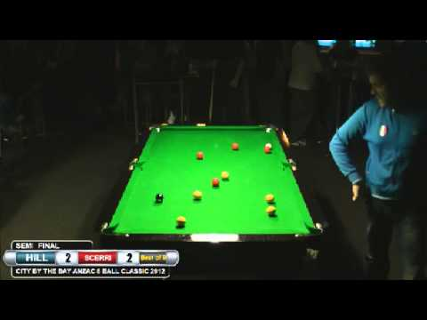 City by the Bay 8 Ball 2012 Semi Mick Hill v Michael Scerri