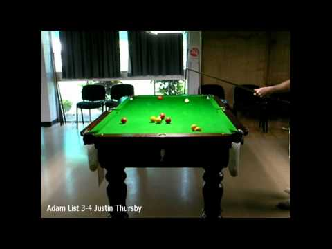 Townsville 8ball Open 2010 Adam List 3-4 Justin Thursby