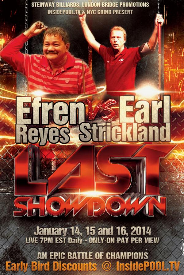 Efren Reyes vs Earl Strickland Challenge Tickets