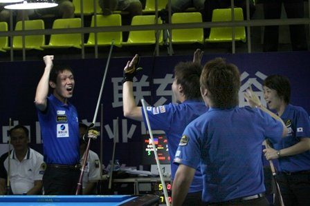 Great Britain and Japan Join Chinese-Taipei and China 2 in Semis at the 2012 World Pool Team Championship