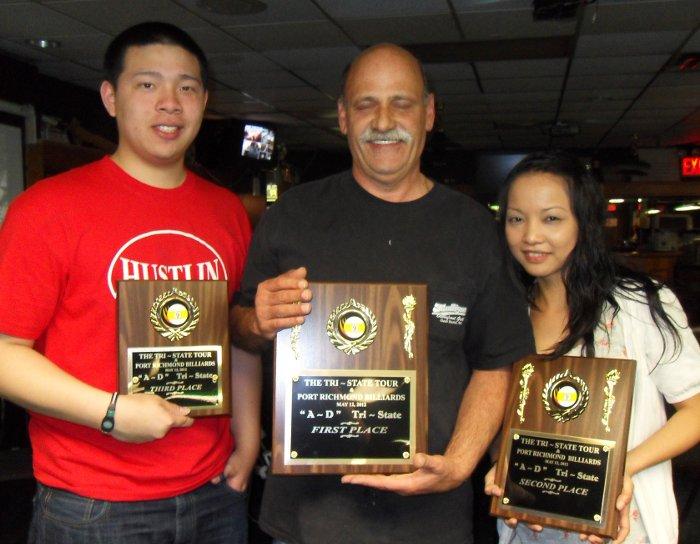 Cacciola and Flores Split Tri-State Billiards Event