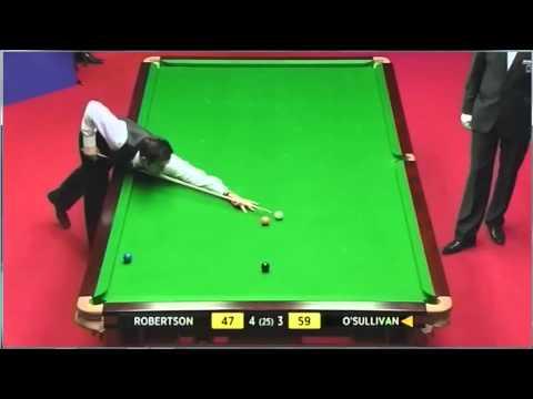 WSC 2012 Neil Robertson Fluke Snooker and Steals the Frame Against Ronnie O'Sullivan
