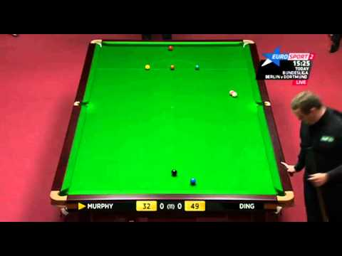 Murphy's 2 Snooker Escapes Ding's Swerve Pot - 2012 Welsh Open