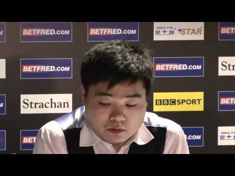 Frustrated Ding criticises fans at Betfred World Snooker Championships