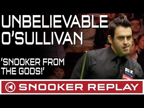 UNBELIEVABLE SNOOKER! Ronnie O'Sullivan 6 frames in less than 1 hour!