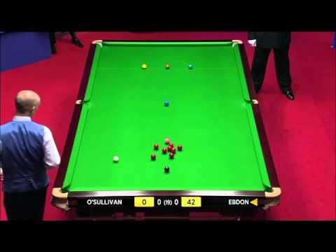 World Championship Snooker 2012 RONNIE O'SULLIVAN vs PETER EBDON Frame-1 P-1