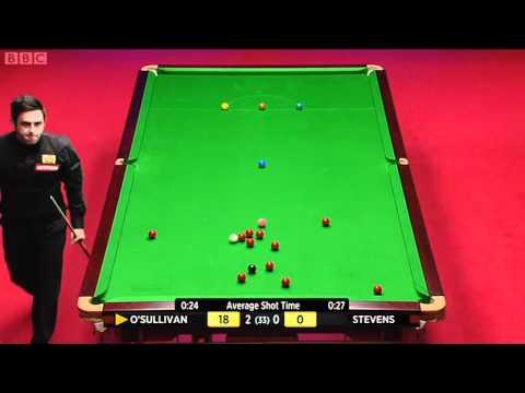 2012 World Snooker Championship SF Ronnie O'Sullivan vs Matthew Stevens Frame 1-4