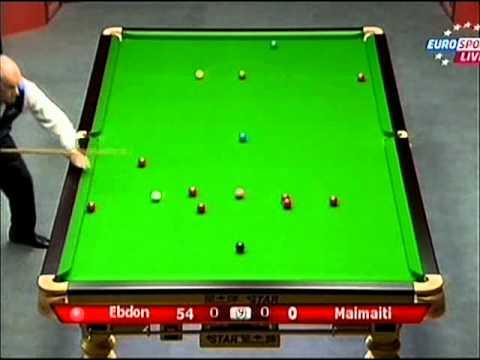 World Snooker Wuxi Classic 2011 Peter Ebdon v Rouzi Maimaiti frame 1 [rus]