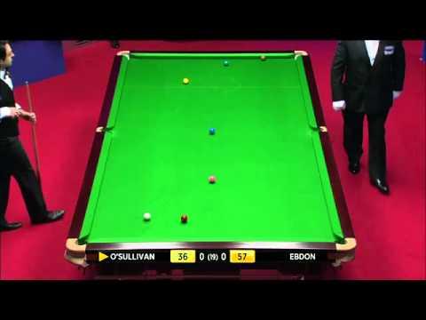 World Championship Snooker 2012 RONNIE O'SULLIVAN vs PETER EBDON Frame-1 P-2