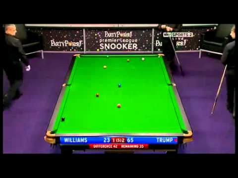 Judd Trump sinks Mark Williams with a Snooker