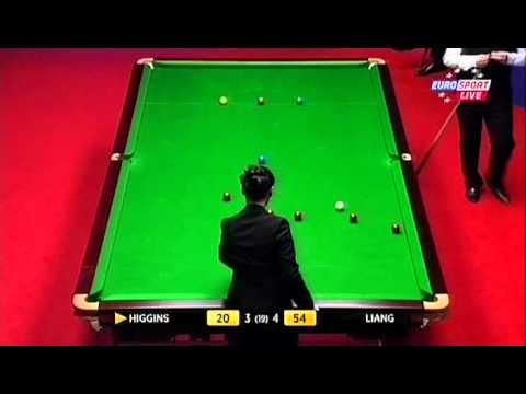 SNOOKER World Championship 2012 Day 1 John Higgins v Liang Wenbo PART 3/4
