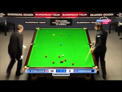 Noppon Saengkham V Ronnie O'Sullivan European Snooker Tour 2014