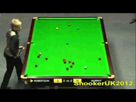 Neil Robertson vs. Shaun Murphy - Snooker Masters 2012 Final - Frame 1 (Part 1)