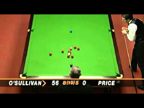 Ronnie O'Sullivan fastest 147 in history vs Mick Price at the 1997 World Championships