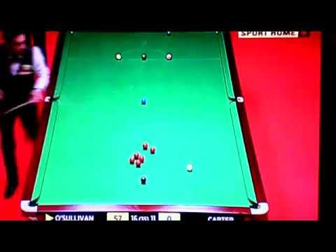 frames 27-28 World championship snooker 2012 final O'sullivan Vs Carter 7/05/12