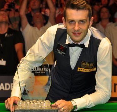 Mark Selby Celebrating World Snooker Championship Final 2014