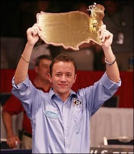 Shane van Boening with US Open Trophy