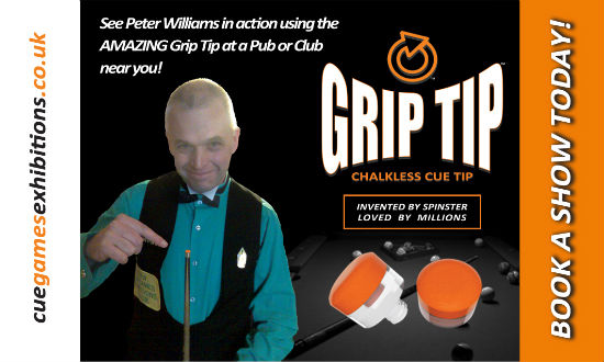 New tip gets a grip on cue sports