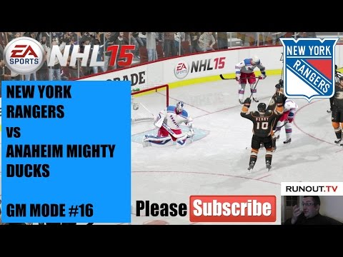 #16 NHL 15 (Xbox One Gameplay) NYR v ANA - GM Mode