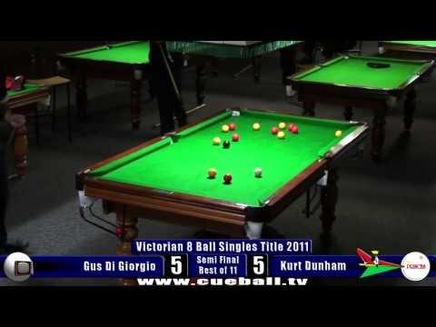Victorian 8 Ball singles titles 2011 semi Kurt Dunham v Gus Di Giorgio