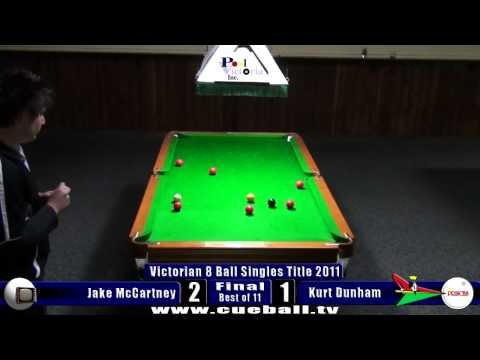 Victorian 8 Ball Singles Title 2011 Final Jake McCartney v Kurt Dunham
