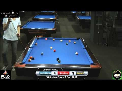 Victorian Open 8 Ball 2012 Last 8 Louis Condo v Nik Neo
