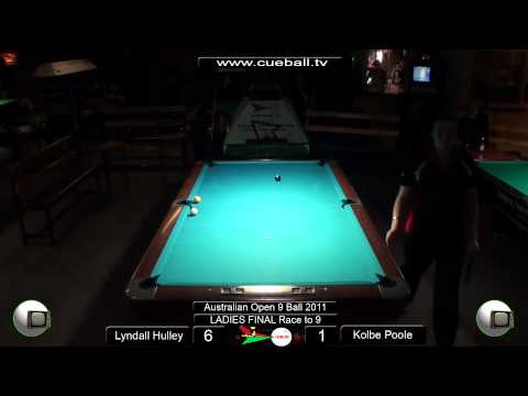 Aus open 9 Ball 2011 Ladies Final Lyndall Hulley v Kolbe Poole