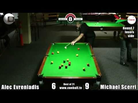 Big Guns Down South 8 Ball Challenge 2011 Alec Evreniadis v Michael Scerri