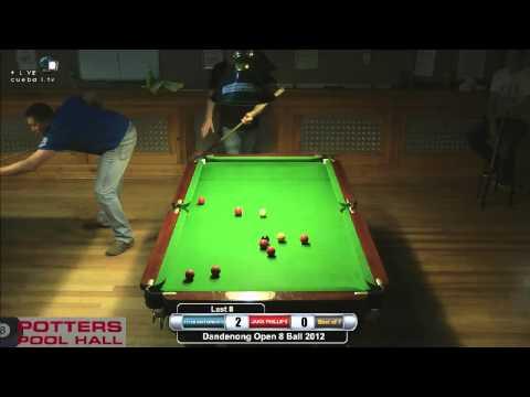 Dandenong 8 Ball 2012 Last 8 Peter Butterworth v Jakk Phillips