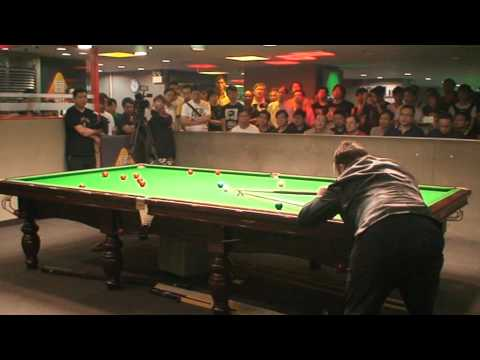 Dong Dong with Jimmy White a match play at HK Ivan Snooker Club on 8th July,2012'