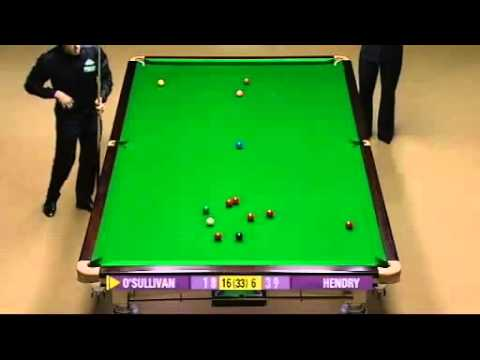 Final Frame Ronnie vs Hendry [Semi Final, Snooker World s 2008]