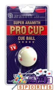 Aramith Pro Cup TV Pool Table Cue Ball 1 7/8″
