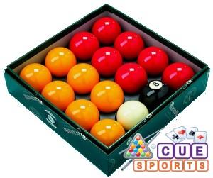Aramith Super Red and Yellow Casino Pool Balls Brisbane