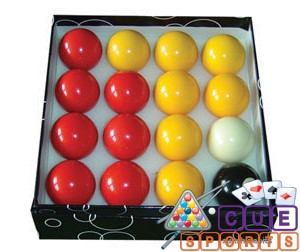 Green Box Numbered 1 to 15 Pool Balls