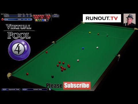 Virtual Pool 4 - #18 Snooker - Best of 3 Frame Match vs Curley
